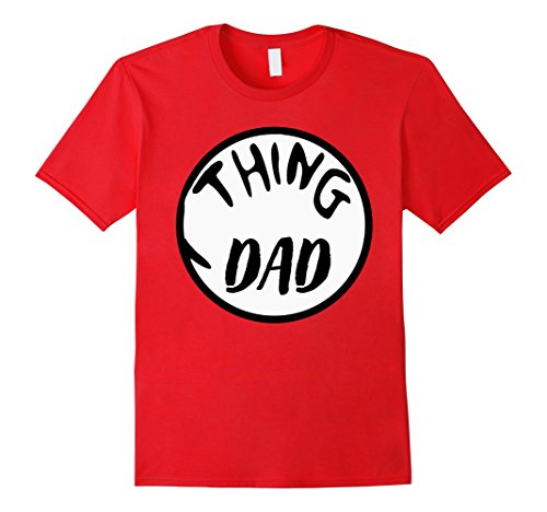 [Men's Funny Halloween T-Shirt - Adult Thing Dad Costume For Parent Large Red] (Epic Halloween Costumes For Men)