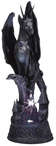 Dragon W/ Lighting Led Crystal Ball Collectible Figurine Statue Model