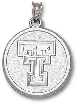 Texas Tech Red Raiders Sterling Silver Classic ''TT'' Circle Pendant