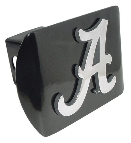 "University of Alabama Crimson Tide Black with Chrome Plated Metal ""A"" NCAA College Sports Trailer Hitch Cover Fits 2 Inch Auto Car Truck Receiver at Amazon.com"