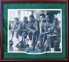 1968-1969 Boston Celtics Autographed Signed Framed Starting Five 16x20 Photo -... by Sports+Memorabilia