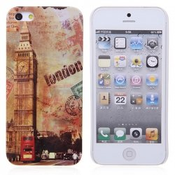 Best Price i-Style Series London Retro Case for iPhone 5 Case (London Postcard Style) - Big Ben Big Bell
