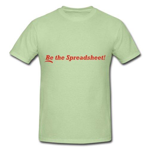 Spreadshirt Men's Be the Spreadsheet T-Shirt,