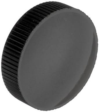 "DimcoGray Black Phenolic Knurled Clamping Knob, Zinc Stud: 10-32"" Thread x 7/32"" Length, 1"" Diameter x 13/32"" Height x 1/2"" Hub Dia (Pack of 10)"
