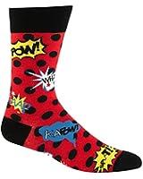Sock It To Me Cartoon Blamo! Mens Socks, Red/Black, One size fit all