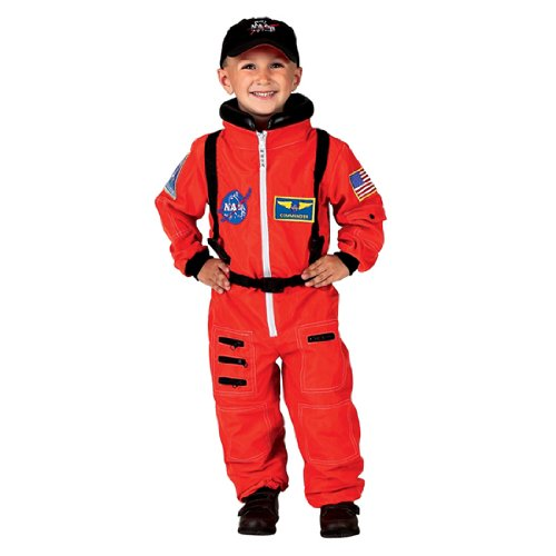 Astronaut (Orange) Child Costume Size 4-6 Small
