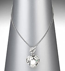 Autograph Chunky Heart Pendant Necklace Made with CRYSTALLIZED - Swarovski Elements