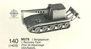 Roco Minitanks Ho Model Miniatures Z-140 Tank Recovery Vehicle T 121