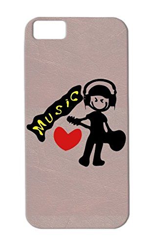 Music Smiley Face Vector G Music Guitar Raphic Concert Boy Unique Passion Miscellaneous Redheart Awesome Love Line Art Guitarist Headphones Guitarist Cool Illustraiton Cool Rock Musician Txt Boy Music Red Tpu Case Cover For Iphone 5C