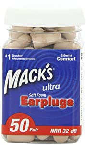 Mack's Ear Care Ultra Soft Foam Earplugs, 50 Count