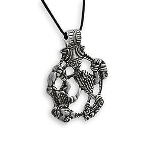 lead free pewter norse god loki pendant