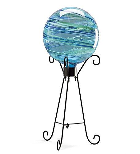Glass Gazing Globe And Stand Set