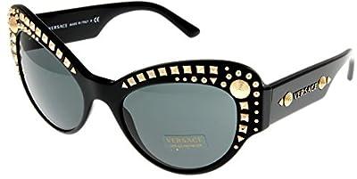 Versace Sunglasses Womens Black Cateye 100% UV Protection VE4269 GB1/87