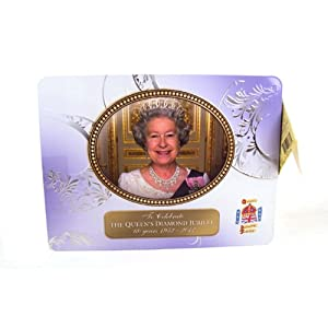 Walkers The Queens Diamond Jubilee Assorted Shortbread Tin 450g