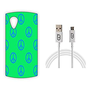 Designer Hard Back Case for LG Nexus 5 with 1.5m Micro USB Cable