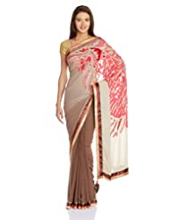 Satya Paul Gorgette Saree With Blouse Piece