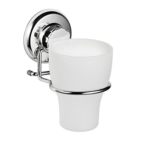 HASKO accessories Stainless Steel Wall Mounted Vacuum Suction Cup Toothbrush Holder (Bathroom Cup Holder compare prices)