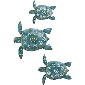Amazon.com - Sea Turtle Wall Decor - Collectible Figurines