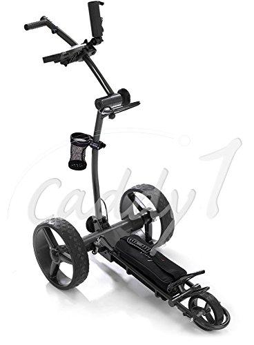 Elektro Golf Trolley CADDYONE 700 in Darkgrey mit Lithium-Akku