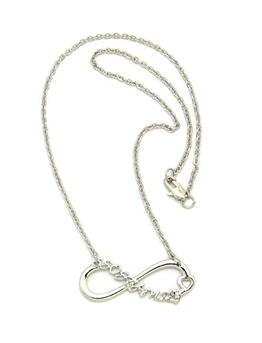 "5Er Family Fans Heart Infinity Loop Pendant 2Mm 18"" Chain Necklace In Silver-Tone"