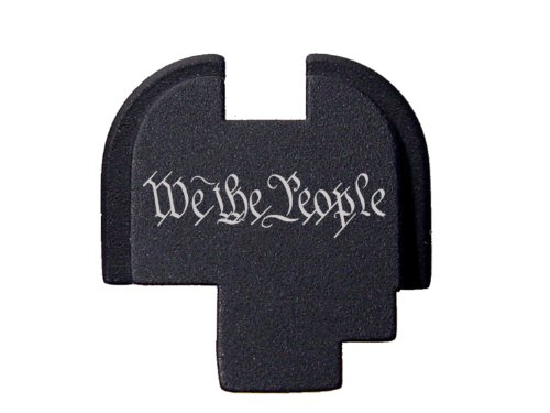 We the People One Line Script Engraved Rear Slide Cover Plate For Springfield Armory XDs 9mm .45acp -SINGLE STACK ONLY- By NDZ Performance (Springfield Rear Slide Plate compare prices)