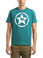 Hot Buttered Camiseta Manga Corta Circle Star (Verde Agua)