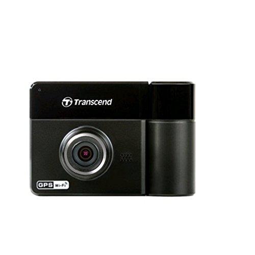 Transcend DrivePro 520 Caméra Dashcam / Enregistreur Vidéo Double Objectif pour Voiture avec GPS, WiFi - Support Ventouse - TS32GDP520M