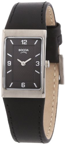 Boccia Ladies Titanium Leather Strap Watch B3186-02