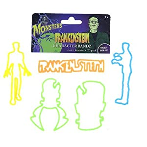 Frankenstein Halloween Rubber Bands Bracelets Logo Bandz Wristbands