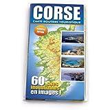 Corse : Carte routière touristique illustrée