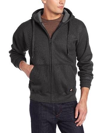 Dickies Men's Thermal Sherpa Lined Hooded Full Zip, Black, Small