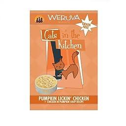 Weruva Cats in the Kitchen Pumpkin Lickin Chicken Pouches (3 oz pouches, 8 per box)