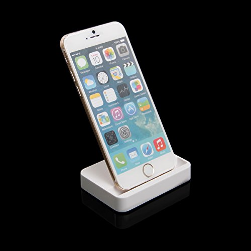 Newnow Iphone 6 Charger Docking Station Cradle Charging Sync Dock For Apple Iphone 6 Plus 6 5 5S 5C (White) front-553553