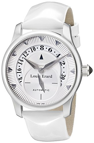 Louis-Erard-Womens-92600AA01BDV12-Emotion-Automatic-Whit-Patent-Leather-Date-Watch