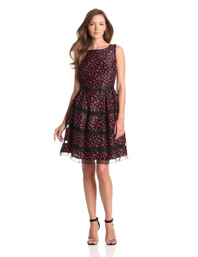 Taylor Dresses Womens Dotted Organza
