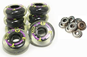 TRUE SPORT YOUTH Inline Skate Replacement Wheels 64mm COMBO SET +BEARINGS by True Sport