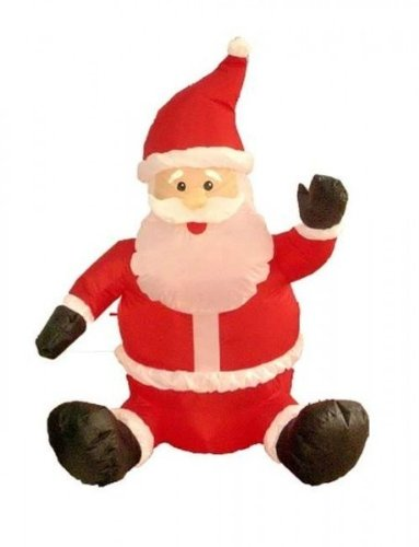 Four Foot Christmas Inflatable Sitting Santa Claus (6 Pack)