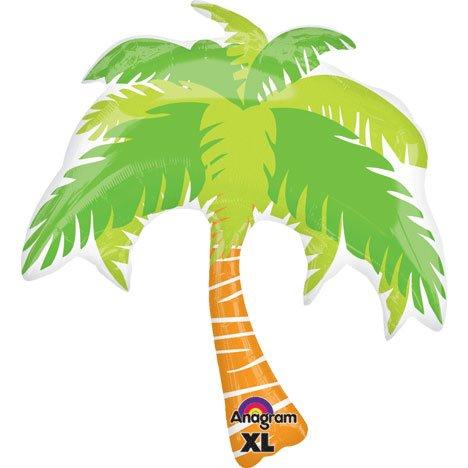 "Hawaiian Tropical Island Luau Palm Tree Supershape Super Shape Foil Balloon 33"" front-847894"
