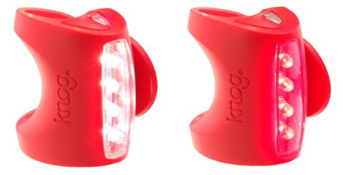Knog Skink Twin Pack Headlight & Taillight Combo Red Body BE SAFE - BE SEEN !