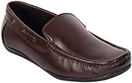 CAPLAND Mens Brown Colour Synthetic Leather Formal Loafer