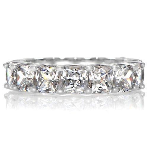 Kharlyn's Princess Cut CZ Eternity Band Ring