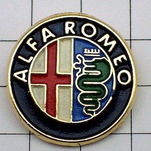 限定 レア ピンバッジ アルファロメオ車エンブレム丸 ピンズ フランス