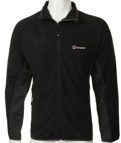 Berghaus Mens Micro Stretch Black Fleece Jacket Size 2XL
