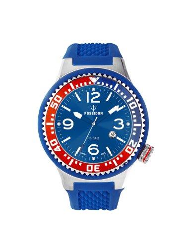 Kienzle K2103017043-00415 - Reloj analógico de cuarzo unisex con correa de silicona, color azul