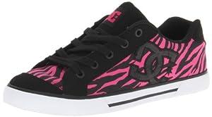 DC Shoes Women's Chelsea Sneaker,Black/Crazy Pink/Sparkle,9 US/9 M US
