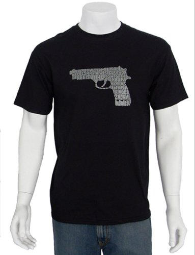 Right to Bear Arms Men's Gun T-shirt XXL - Art Is Created Using the 2nd Amendment