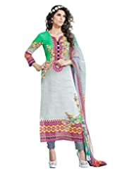 Surat Tex Multicolor Color Digital Print Cotton Semi-Stitched Salwar Suit-D321DL2408SA