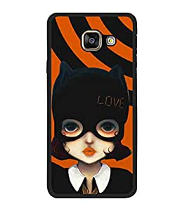 printtech Cute Girl Love Mask Back Case Cover for Samsung Galaxy A5 (2016) :: Samsung Galaxy A5 (2016) Duos with dual-SIM card slots