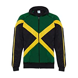 Jlsport Black Rasta Reggae Power Jacket Jamaica Flag Zipped Jumper Tracksuit Man Long Sleeve