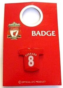 Liverpool Fc Shirt Pin Badge Gerrard 8 by Liverpool FC